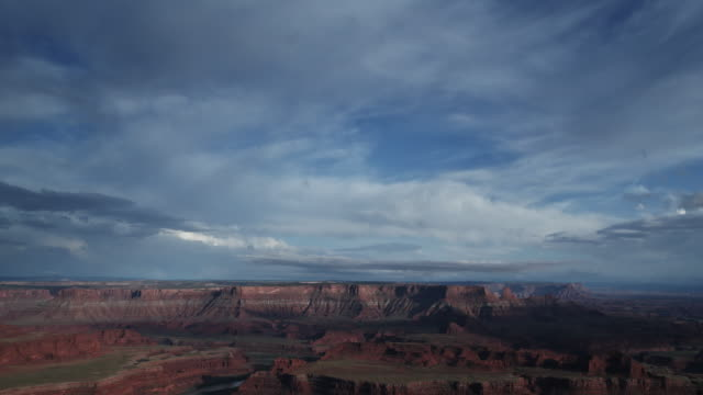 Evening Storm Clouds Clear Over Red Rocks Canyon video