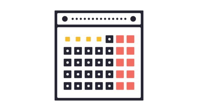 event datumsgrenze icon animation - kalender icon stock-videos und b-roll-filmmaterial