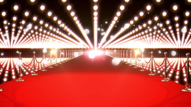vídeos de stock, filmes e b-roll de evento vip com tapete vermelho - eventos de gala
