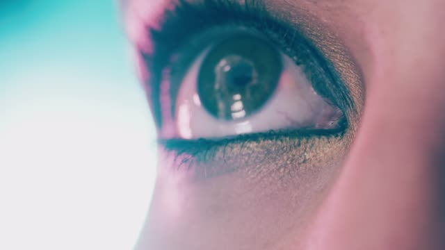 Every shade of beautiful Closeup 4K video footage of a woman wearing dramatic eye makeup eyeshadow stock videos & royalty-free footage