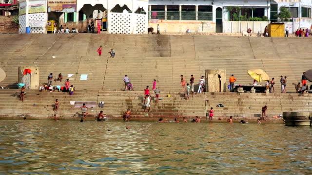 Everyday scene in Varanasi video