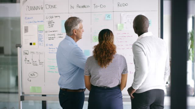Everyone has their role to play in the master plan 4k video footage of a group of businesspeople brainstorming on a whiteboard in an office whiteboard visual aid stock videos & royalty-free footage