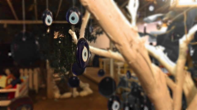 4K Evil Eye Bead on the tree