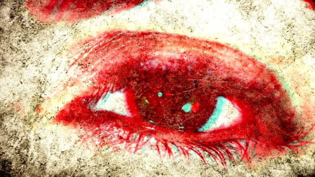 evil eye. hd - cadavere video stock e b–roll