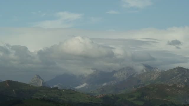 Evolution clouds in the mountains video