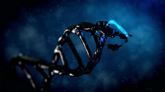 4K- BLUE Evolution DNA  - Stock video video