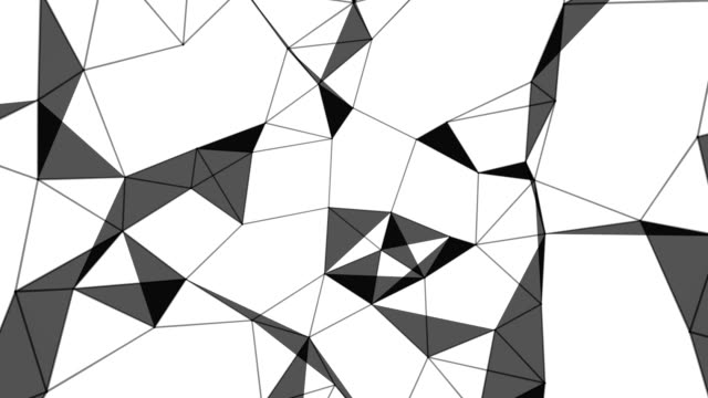 Evolving irregular low poly background loop video