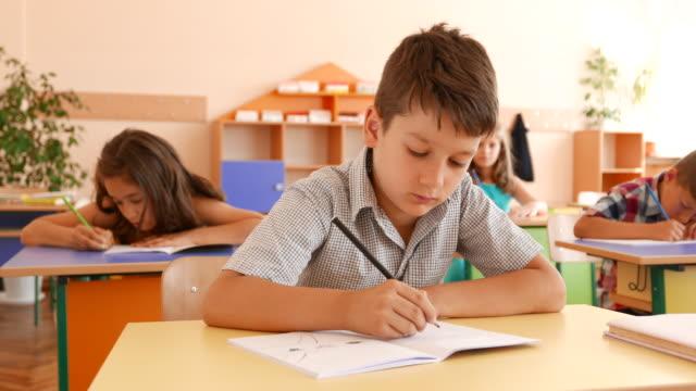 Exam in classroom video