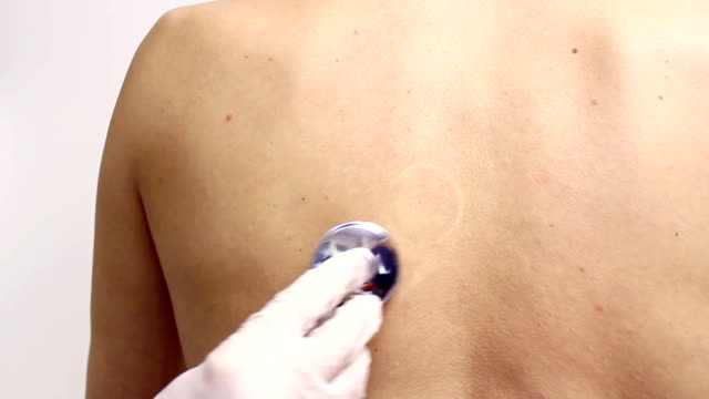 Examination with a stethoscope video