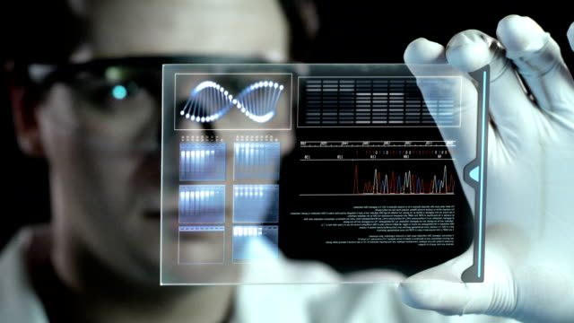 vídeos de stock, filmes e b-roll de analisar o dna. - health