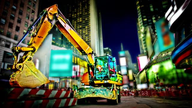 Excavator at Time Square video