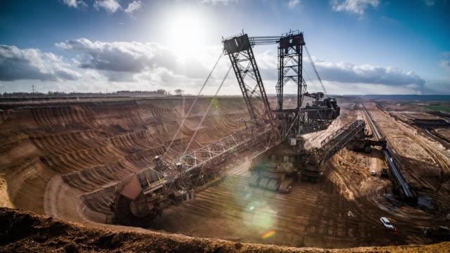 Excavator in Lignite Surface Mine