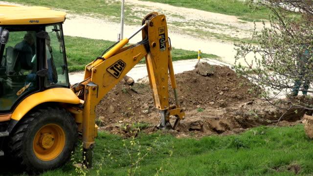 VARNA, BULGARIA - APR 26, 2017 - Excavators At Work video