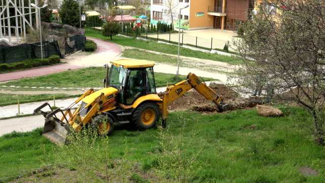 VARNA, BULGARIA - APR 26, 2017 - Excavators At Work VARNA, BULGARIA - APR 26, 2017 - Excavators At Work gas pipe stock videos & royalty-free footage