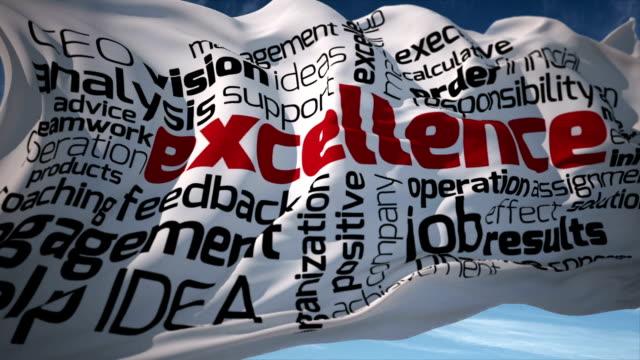 Excellence Keyword Flag video