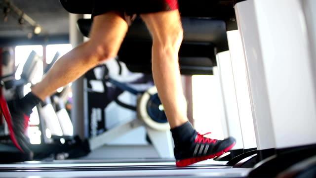 Excercising Treadmill Running Gym Health Club Fitness video