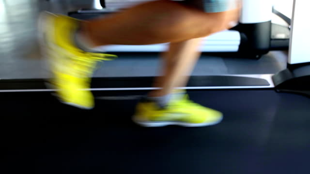 Excercising Treadmill Running Gym Health Club Fitness video