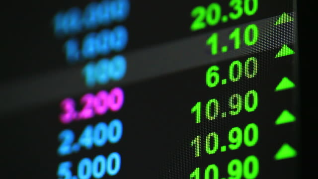 exchange stock market board - табло котировок стоковые видео и кадры b-roll