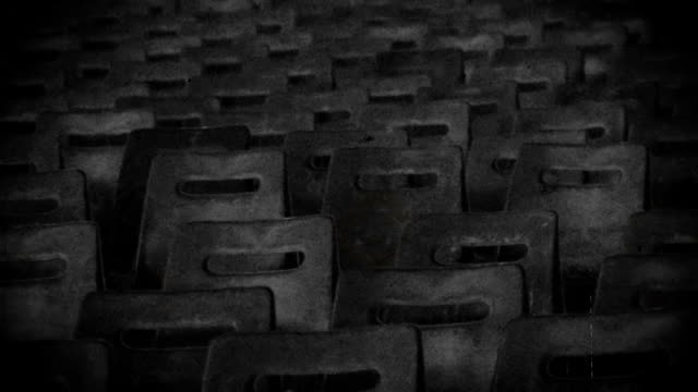 Exclusion zone, empty theater hall in desolate town, memories, black and white Exclusion zone, empty theater hall in desolate town, memories, black and white time zone stock videos & royalty-free footage