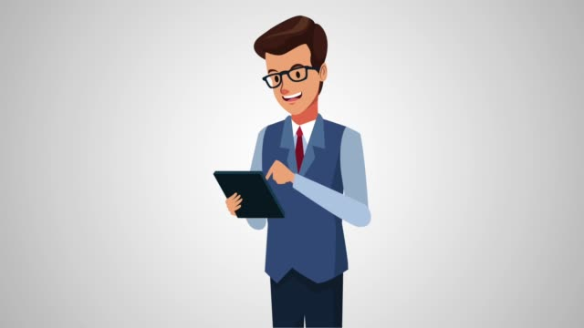 Bидео Executive businessman cartoon HD animation