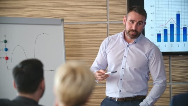 executive coach working with business group - language class stock videos and b-roll footage