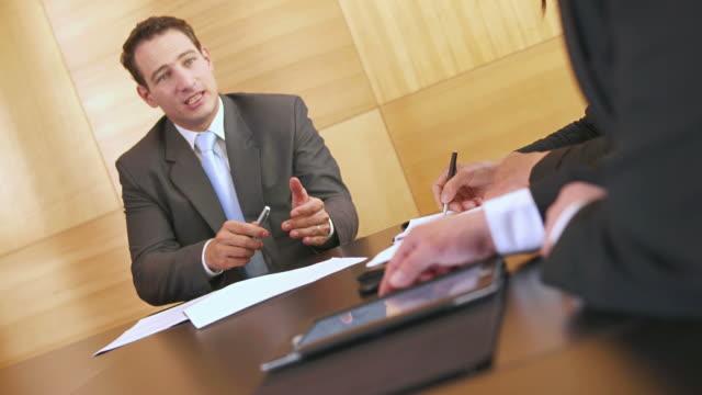 HD: Executive Talking At Meeting video