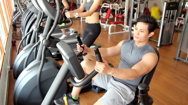exercise bike - active lifestyle stock videos & royalty-free footage