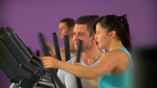 HD: Exercising At The Gym video