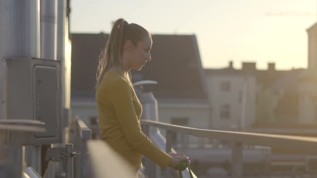 Exercising on the roof top video