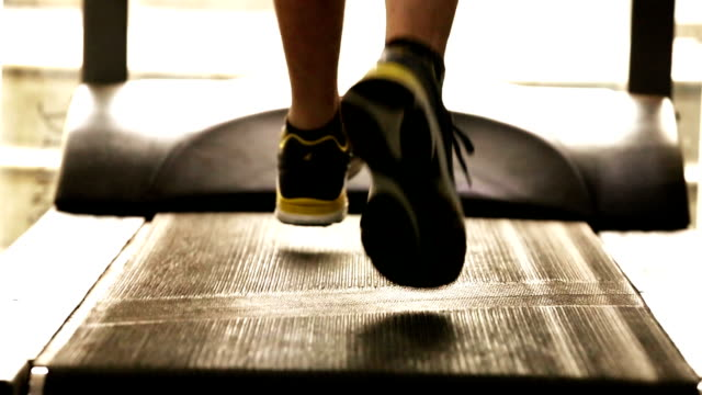 Exercising on Treadmill Unrecognizable Person Exercising on Treadmill Close up health club stock videos & royalty-free footage