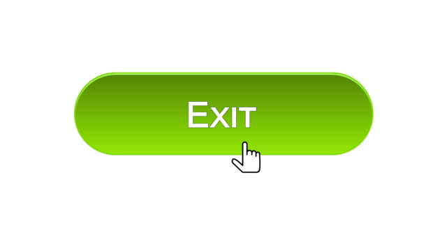 Exit web interface button clicked with mouse cursor, different color choice video