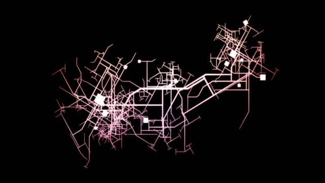 新しい物件をつなげて街を広げる - 方向点の映像素材/bロール