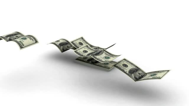расходы (летающий валюта, альфа-канал включен - потеря стоковые видео и кадры b-roll