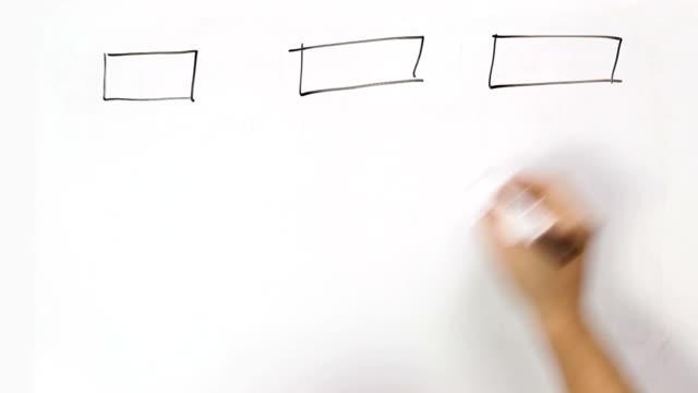 erklärer schema mit rechtecken und pfeile - flussdiagramm stock-videos und b-roll-filmmaterial