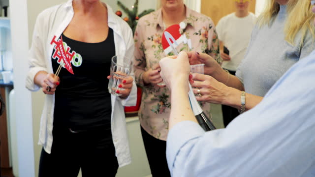 exploding bottle of champagne - office party stock videos and b-roll footage
