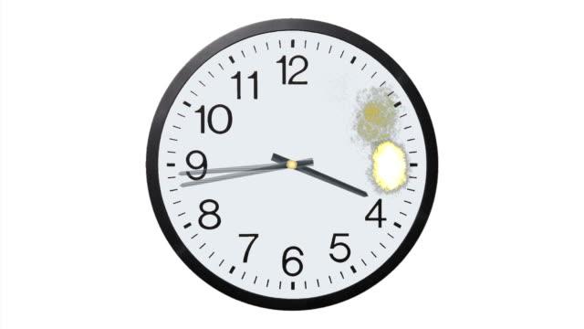 Exploding Clock Time Lapse video