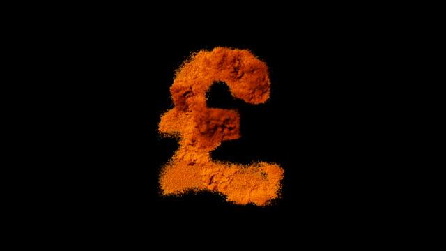 simbolo di dollaro in crescita - simbolo della sterlina video stock e b–roll