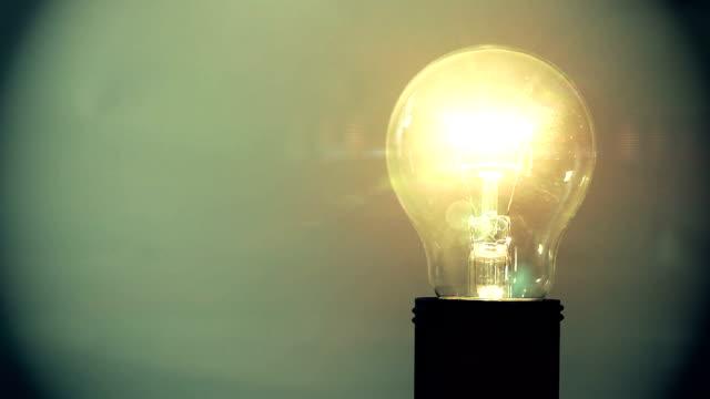 Exploding light bulb video