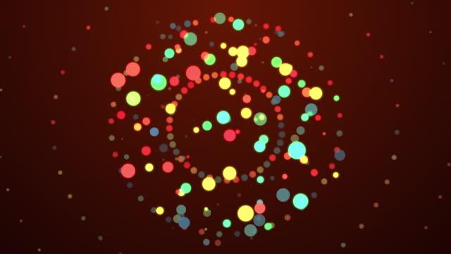 vídeos y material grabado en eventos de stock de partícula explosiva - holiday lights