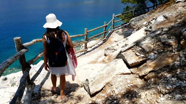 utforska aliki stranden - egeiska havet bildbanksvideor och videomaterial från bakom kulisserna