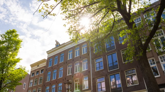Exploring the city of Amsterdam, Netherlands on a beautiful sunny day