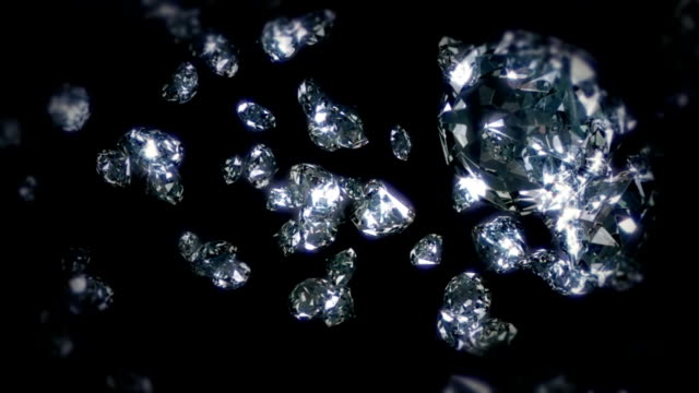 esplosione e diamanti volare - ice on fire video stock e b–roll