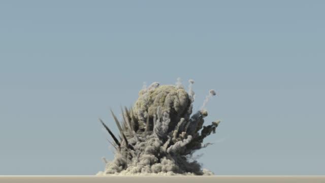 vídeos y material grabado en eventos de stock de explosión en el cielo azul - apocalipsis