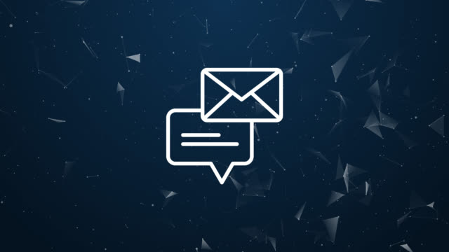 explosive introduction of chat message concept. polygonal animation 4k - newsletter video stock e b–roll