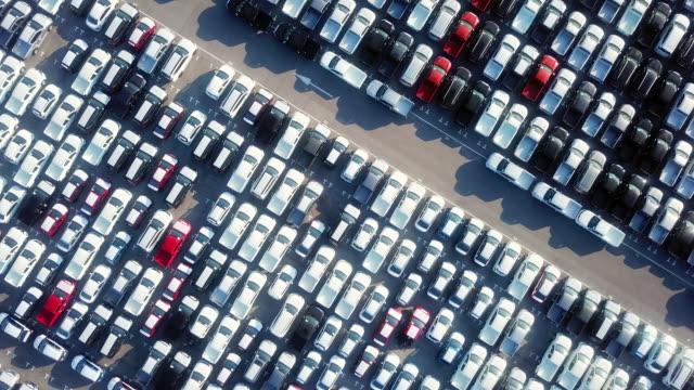 stockvideo's en b-roll-footage met export auto, verkoop auto - parking