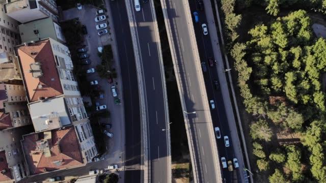 Express Highway Aerial View in The City Location: Bornova, Izmir, Turkey aegean turkey stock videos & royalty-free footage