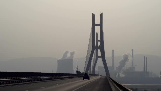 Express way bridge on Yellow River video
