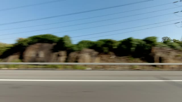nyc expressway xv synched series right side driving studio process plate - talerz filmów i materiałów b-roll