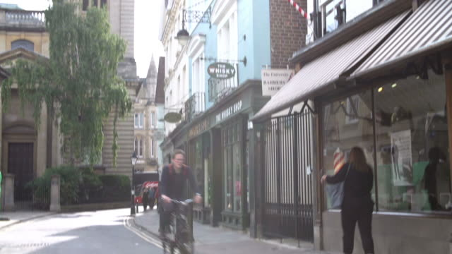 Exterior Of Shops And Church In Oxford City Centre video