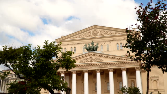 Exterior of the Bolshoi Theater in Moscow video